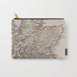 Vintage Map of Scotland (1681) Carry-All Pouch
