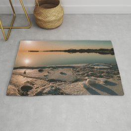 Sunset over the River Rug