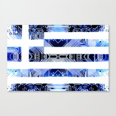 circuit board greece (Flag) Canvas Print