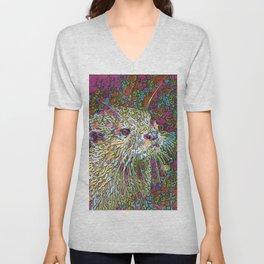 Abstract Otter Unisex V-Neck