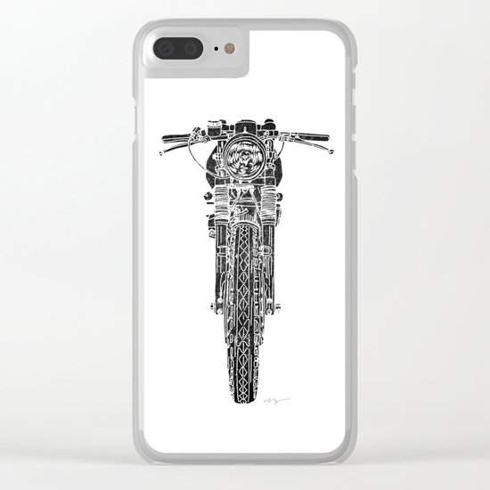 Vintage Italian 860 GTS Motorcycle Clear iPhone Case