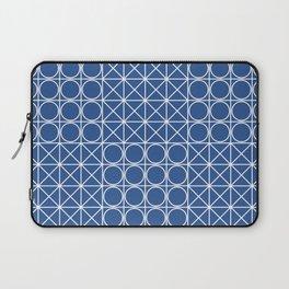 Geometric Tile Pattern Blue Laptop Sleeve