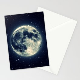 Just the moon Stationery Cards