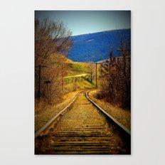 railway edited Canvas Print