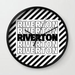 Riverton USA CITY Funny Gifts Wall Clock