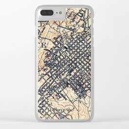 Vintage Map of Charlotte North Carolina (1905) Clear iPhone Case