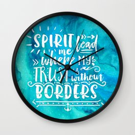 Trust Without Borders Wall Clock