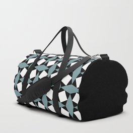 Geometric Pattern #188 (gray squares) Duffle Bag