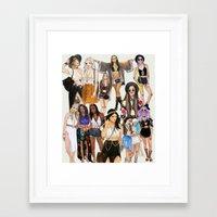 coachella Framed Art Prints featuring Coachella Girls by Sara Eshak