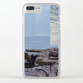 SUN HOLE Clear iPhone Case