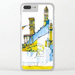 Sharjah Traditional Art in water colour Clear iPhone Case