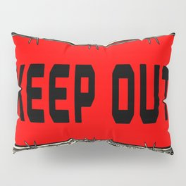 Barbed Wire Keep Out Pillow Sham