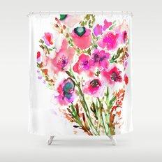 Bouquet Pink Shower Curtain