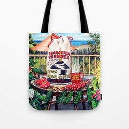Mountsin Thunder Coffee bag stilllife Tote Bag