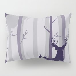 Stag In A Forest Pillow Sham