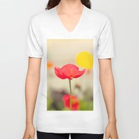 imagine V-neck T-shirts featuring Imagine by Laura Ruth