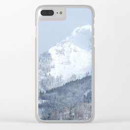 White Mountain in Wolfgangsee Clear iPhone Case