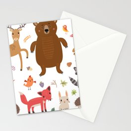 Forest Critters Stationery Cards