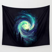 tim shumate Wall Tapestries featuring Adventure Awaits by nicebleed