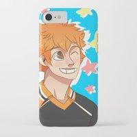 haikyuu iPhone & iPod Cases featuring Hinata Haikyuu!! by Dreki