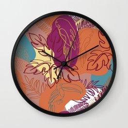 Tropical Heat-Bright Jungle Wall Clock