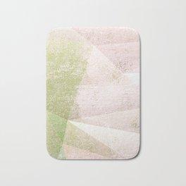 Frozen Geometry - Pink & Green Bath Mat