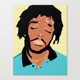 Lil Uzi Portrait (Yellow) Canvas Print
