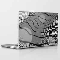 mid century Laptop & iPad Skins featuring Mid-Century Mod 2 by Patti Toth McCormick