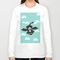 how to train your dragon Long Sleeve T-shirts featuring How Panda Train Your Dragon by Pandakuma Store