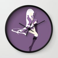 dangan ronpa Wall Clocks featuring Kirigiri by Polvo