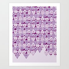 Diamond Faces Art Print