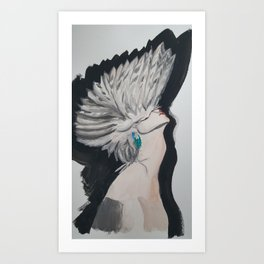 Mask of Feathers Art Print