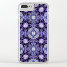 Snowballs and Purple Dreams Clear iPhone Case