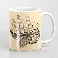 moby dick Mugs featuring Moby by Lindsey Caneso