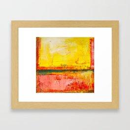 """""""Sunshine Landscape"""" by Simon Brushfield Framed Art Print"""