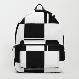 Black and white squares, crosses and lines Backpack