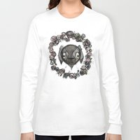goat Long Sleeve T-shirts featuring Goat by Radio Trees