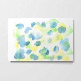 180527 Abstract Watercolour 14 | Watercolor Brush Strokes Metal Print
