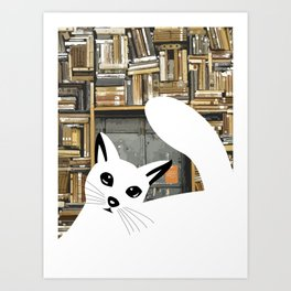 Curios cat I Art Print