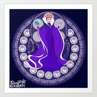 evil queen Art Prints featuring Evil Queen  by NicoleGrahamART