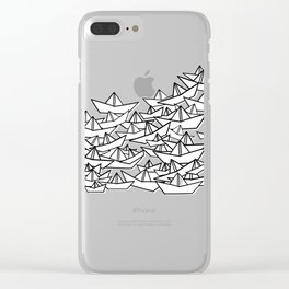 Sardine's Paper Boats Clear iPhone Case