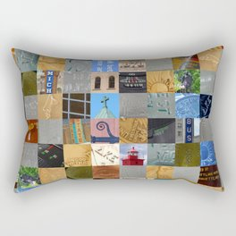Pieces of Pictures Collage Rectangular Pillow
