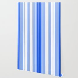 Strips - blue and white. Wallpaper