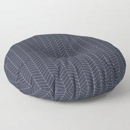 Herringbone. - Navy Blazer (small scale) Floor Pillow