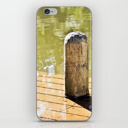 Waterlogged pier. iPhone Skin