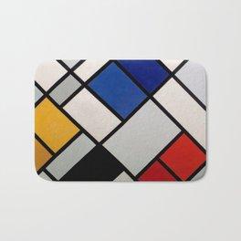 Theo van Doesburg - Contra-Compositions of Dissonances XVI - Abstract De Stijl Painting Bath Mat