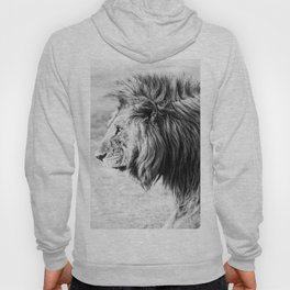 Black and White Lion Hoody