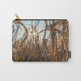Corn field at sunset in the countryside of Lomellina Carry-All Pouch