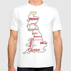 Carry On (1960's - 1970's) White SMALL Mens Fitted Tee