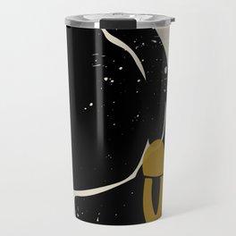 Black Hair No. 4 Travel Mug